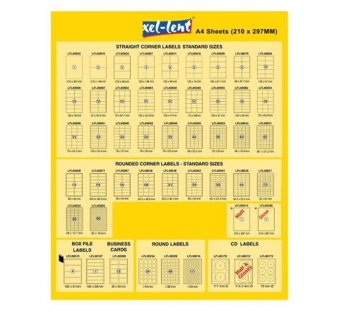 XEL-LENT  LABEL 105X25.4 22 SHEETS PER PACK