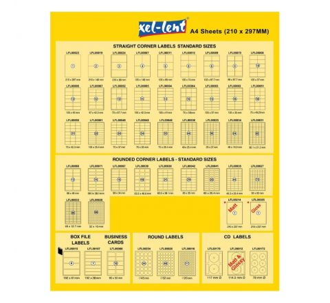 XEL-LENT LABEL 105X37 16 LABELS PER SHEETS 100 SHEETS PER PACK