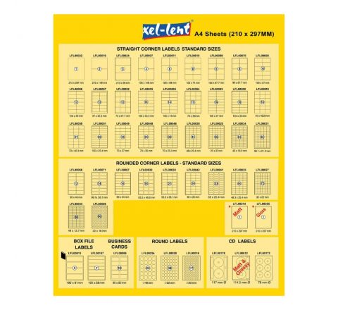XEL-LENT LABEL A4 210X148M 2 LABELS PER SHEETS 100 SHEETS PER PACK