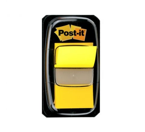 "3M  680 5 POST-IT FLAGS -YELLOW 1""X1.7"", 50 SHEETS"