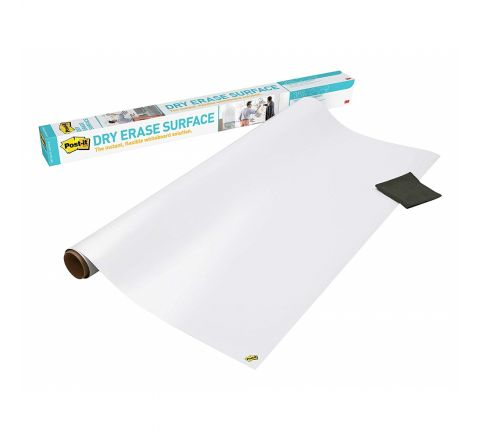 3M POST-IT DRY ERASE SURFACE, 4' X 3', WHITE (120*90), DEF4X3