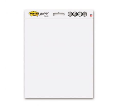 POST-IT SUPER STICKY TABLETOP EASEL PAD WITH DRY ERASE SURFACE 563 DE. 20 X 23 IN (50.4 X 58.4CM), WHITE PAPER AND SURFACE, 20 SHEETS/PAD