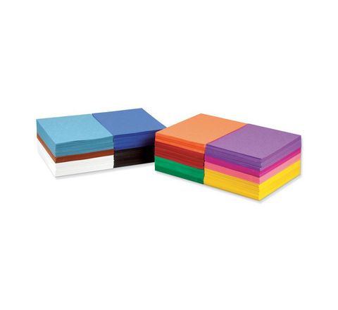 Construction Paper School Stack A4 Assorted Box 2400