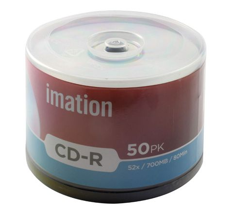 Imation CD-R Spindle-700mb Red Pack 50