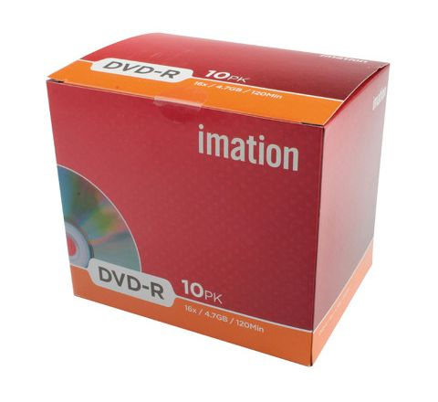 Imation DVD Recordable (DVD-R) Red Pack 10