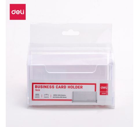 DELI-E7623-CARD HOLDER ARCYLIC 100 X 38 X 82 MM