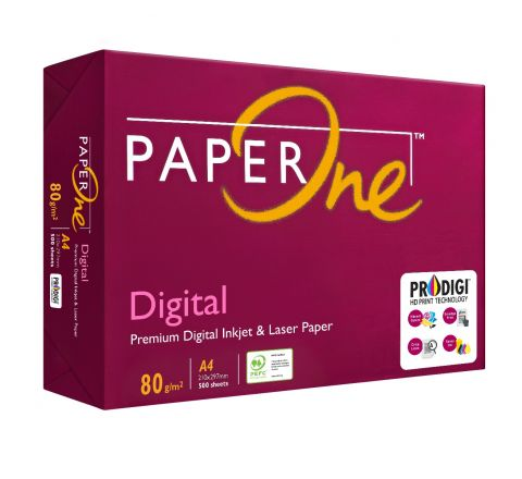 PAPERONE DIGITAL (P1D), PRINTING / PHOTO COPY PAPER, A4 80GSM, WHITE, 500 PAGES IN A REAM