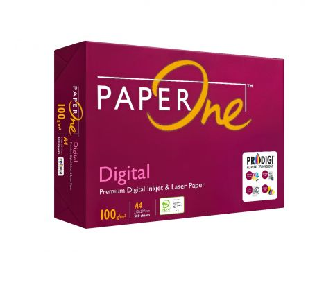 PAPERONE DIGITAL (P1D), PRINTING / PHOTO COPY PAPER, A4 100GSM, WHITE, 500 PAGES IN A REAM