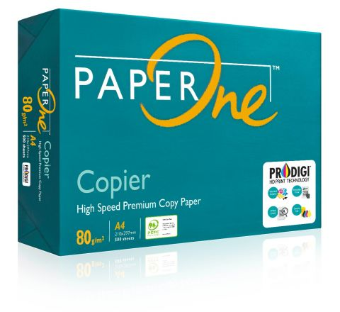 PAPERONE COPIER (P1C), PRINTING / PHOTO COPY PAPER, A4 80GSM, WHITE, 500 PAGES IN A REAM