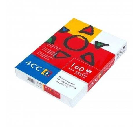 4CC COPYING AND PRINTING PAPER A4 160GSM, 250 SHEETS, WHITE