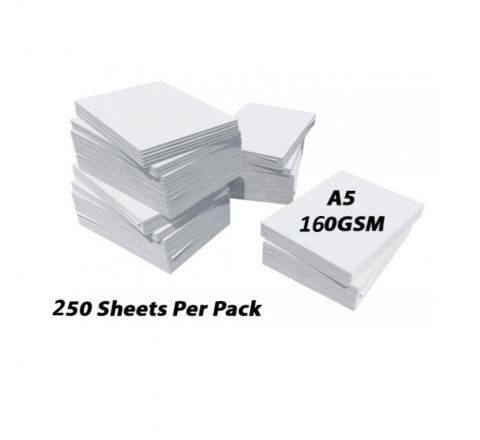 PRINTING / PHOTOCOPY PAPER, A5 160GSM, WHITE, 250 SHEETS IN A REAM