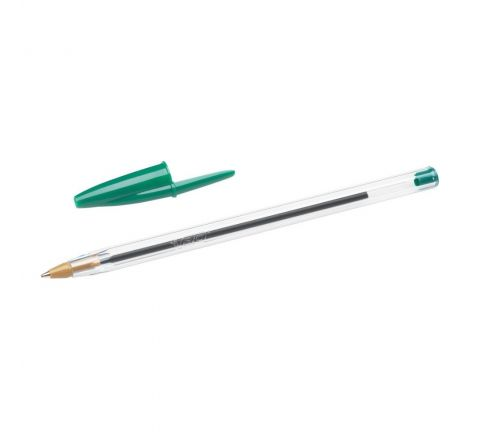 BIC CRISTAL ORIGINAL BALLPOINT PEN MEDIUM POINT (1.0MM) - GREEN COLOUR