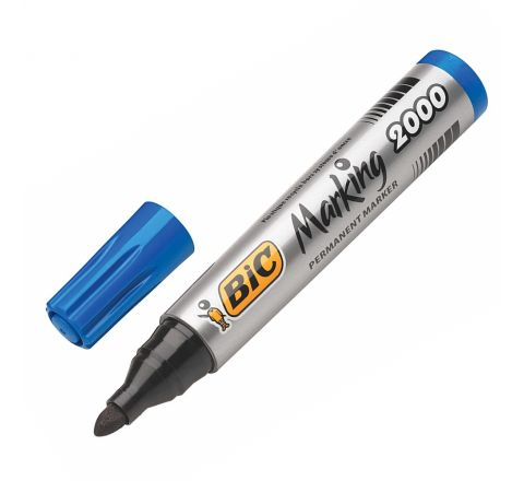 BIC PERMANENT MARKER 2000 BULLETIN TIP, BLUE COLOUR