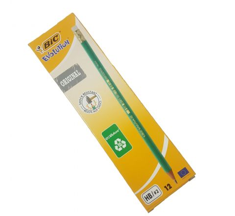 BIC EVOLUTION HB PENCIL, GREEN, 12 PIECES PER PACK