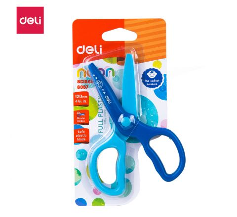 DELI-E6067-STUDENT SCISSORS 120 MM (ASST COLOUR)