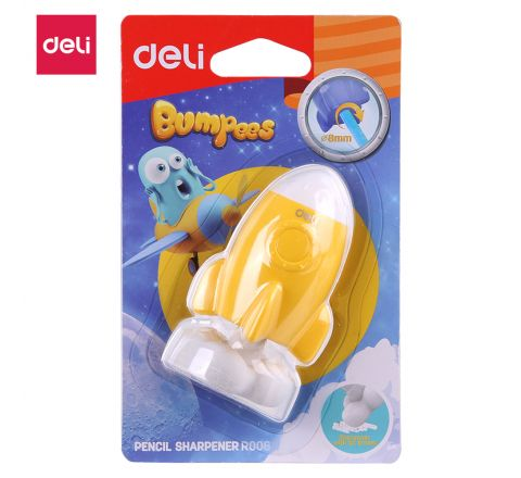 DELI-ER00601-PENCIL SHARPENER BUMPEES (ASST COLOUR)