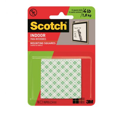 3M  111 SCOTCH MOUNTING SQUARES HEAVY DUTY