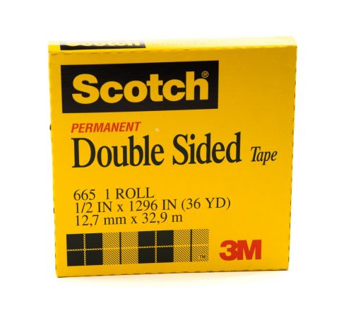 3M  665-1236 SCOTCH DBL.SIDED TAPE 1/2X36YARDS
