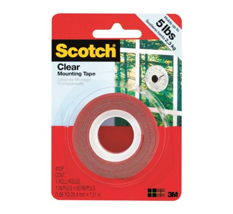 3M  4010 SCOTCH CLEAR MOUNTING TAPE HEAVY DUTY