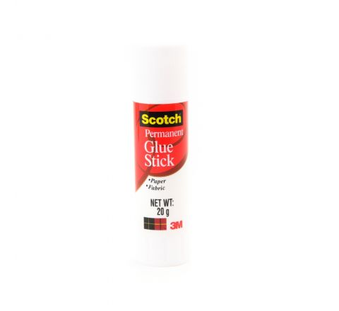 3M  6020-12D SCOTCH PERMANENT WHITE GLUE 20 GRAM