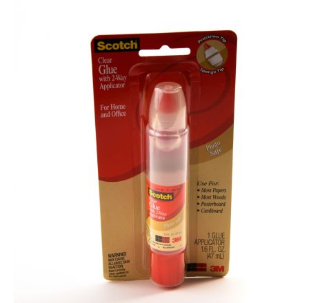3M  6050 SCOTCH CLEAR GLUE WITH 2WAY APPLICATOR, 47ML