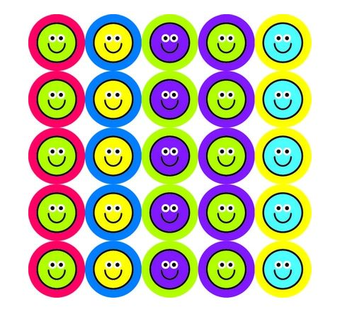 10mm Smiley Stickers Pack 825
