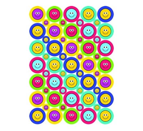 24/10mm A5 Smiley Stickers Pack 590