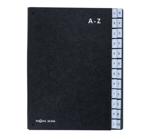 DURABLE PAGNA SIGNATURE BOOK A-Z PAGES - BLACK - P24246-04
