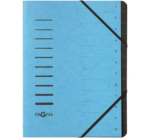 40059-18 PAGNA SIGNATURE FILE 12 COMPATYMENT, BLUE COLOR