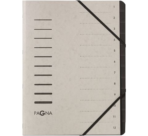 40059-21 PAGNA SIGNATURE FILE 12 COMPATYMENT, LIGHT GREY COLOR
