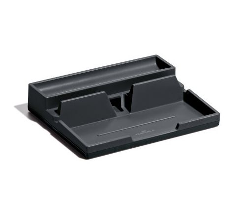 761358- DURABLE STORAGE TRAY -CHARCOL