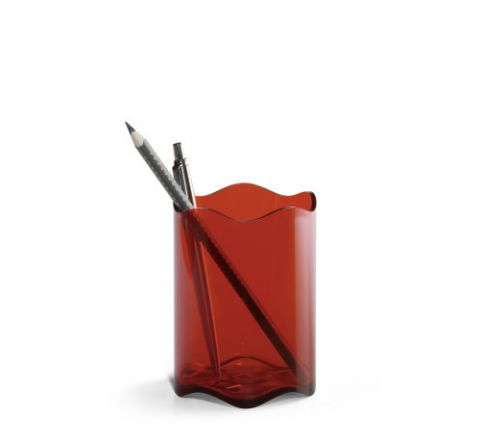 DURABLE PEN HOLDER TRANSPARENT RED - 1701235003