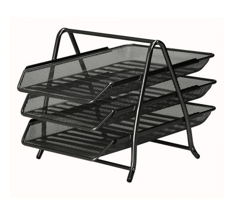 PAPER TRAY 3-TIER NET TYPE, BLACK COLOUR