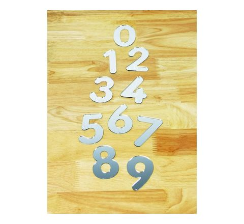Mirrored Numbers Large 168mm Set 10