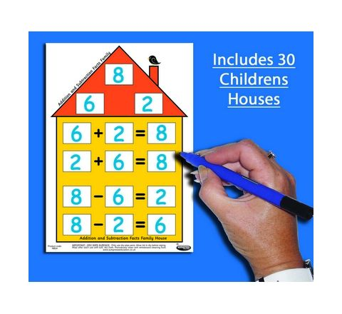Addition/Subtraction House Charts (Pack 30) And Poster