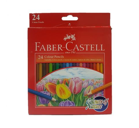 FABER CASTELL FCI114426 COLOURS OF NATURE PENCIL ASSORTED, PACK OF 24 COLOURS