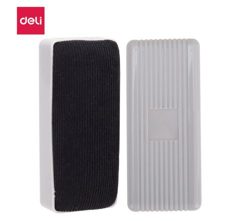 DELI-E7810-WHITE BOARD ERASER (BLACK / GREY)