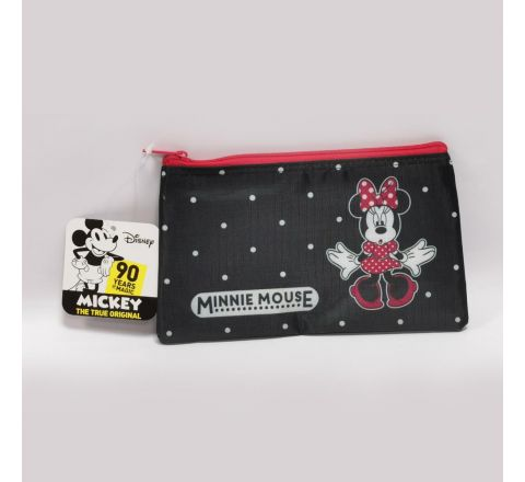 PENCIL POUCH - MINNIE MOUSE- BLACK & RED