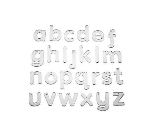 Mirror Letters Lower Case 70Mm