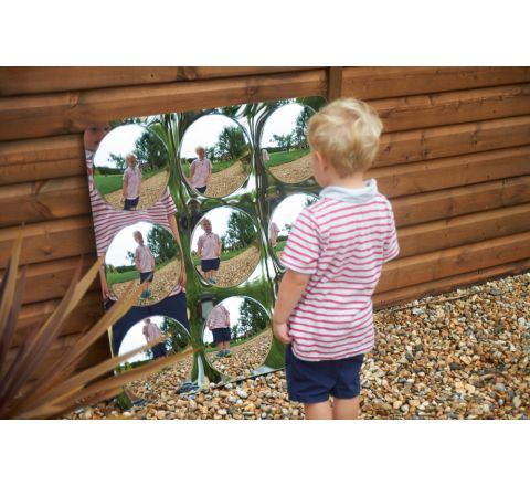 Acrylic Mirror Panel - Giant 9-Dome
