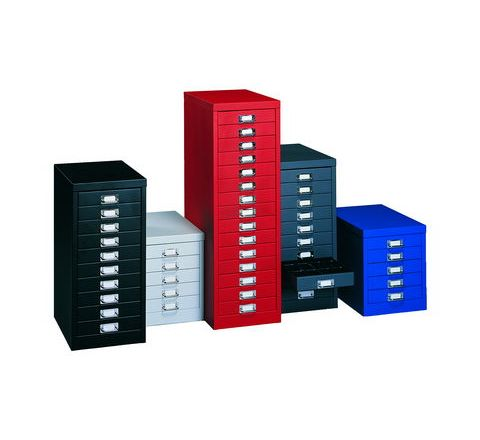 15 Drawer Multi Unit Lockable W278xD408xH866mm