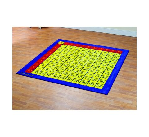 100 Square Multiplication Grid Carpet 2mx2m Each