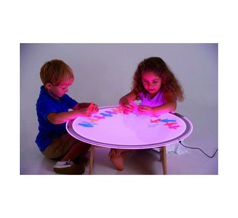 Round Colour Changing Light Panel And Table Set Folds Flat