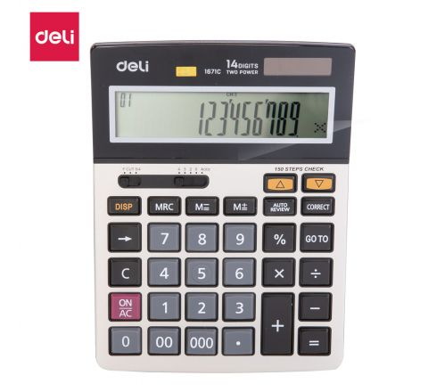 E1671C- DELI CALCULATOR 14 DIG ITS