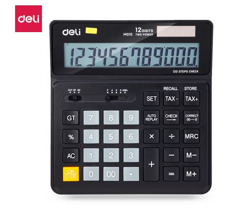 EM01020-CALCULATOR 12DIGIT 120 STEPSCHECK