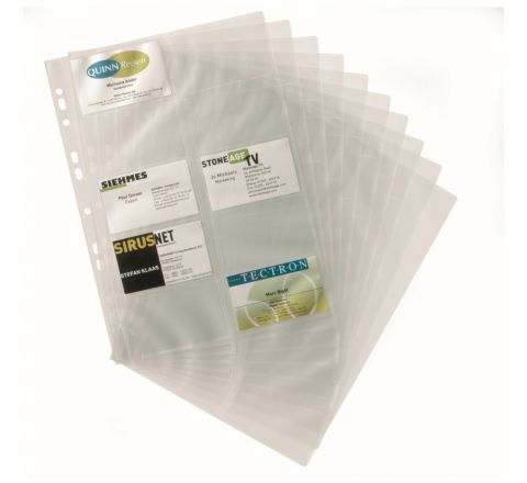 DURABLE 2389-19 A4 BUSINESS CARD POCKET REFILLS, A4 SIZE, 10 PIECES PER PACK