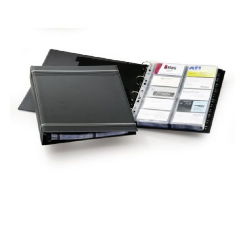 2388-07 DURABLE VISIFIX A4 BUSINESS CARD ALBUM A4 PVC CHARCOAL
