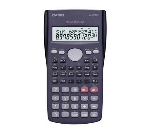 CASIO FX-82MS POCKET SCIENTIFIC CALCULATOR WITH 12 DIGITS AND 2 LINES DISPLAY