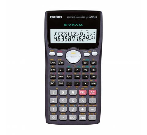 CASIO FX-100MS NON-PROGRAMMABLE SCIENTIFIC CALCULATOR WITH 2-LINE DISPLAY AND 300 FUNCTIONS