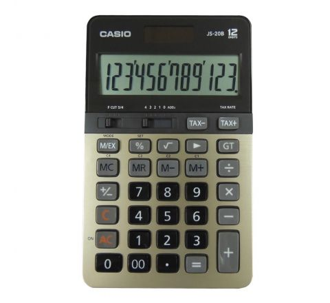 CASIO JS-20B CALCULATOR, 12 DIGITS DISPLAY